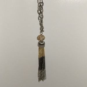 """Necklace silver Gold, black 21"""""""